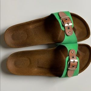Shoes - Green Slide-Ons